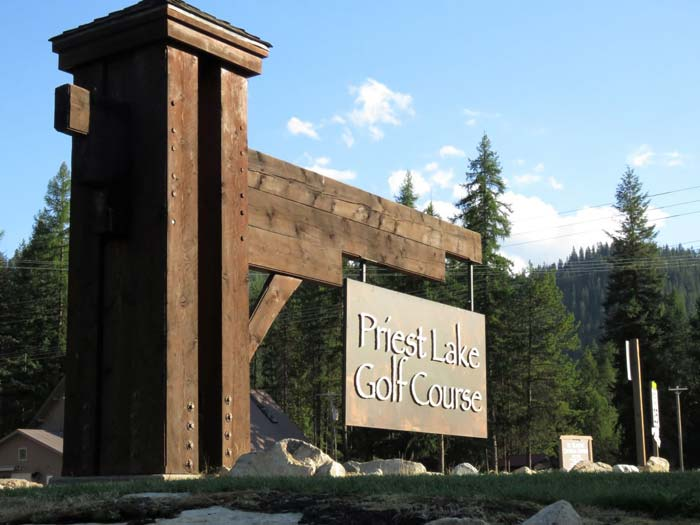 Priest Lake Golf Course Sign